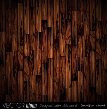 timber floor: Vector parquet background with old wood texture. Created from real wood with cartoon illustration style. Illustration