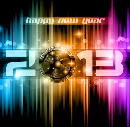 Colorful 2013 New Year Celebration Background with Glitter and Rainbow Colours Stock Vector - 15673051