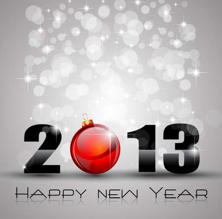 happy newyear: Colorful 2013 New Year Celebration Background with Glitter and Rainbow Colours