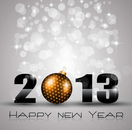 2013 New Year Celebration Background with Glitter and Rainbow Colours Stock Vector - 16004689