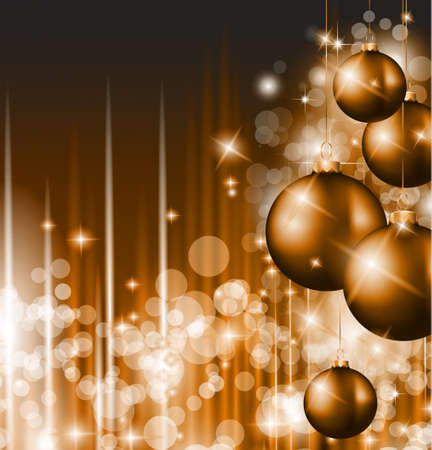 golden ball: Merry Christmas Elegant Suggestive Background for Greetings Card