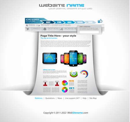 website: Origami Website - elegantes Design f�r Business-Pr�sentationen. Jeder Schatten ist transparent
