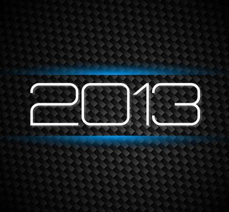 2013 hight tech style new year background over a carbonic background Vector