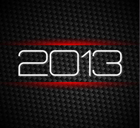 hight tech: 2013 hight tech style new year background over a carbonic background Illustration