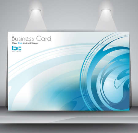 ideal: Elegant business card design template - Ideal for corporate card background or modern brochure covers.
