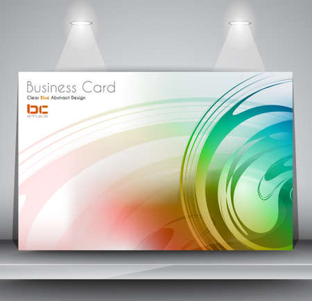 Elegant business card design template - Ideal for corporate card background or modern brochure covers. Stock Vector - 17818750
