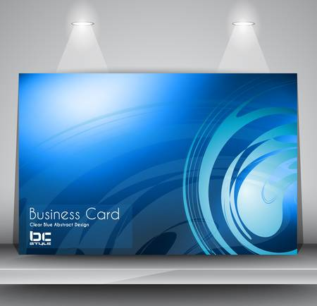 Elegant business card design template - Ideal for corporate card background or modern brochure covers. Stock Vector - 17962650