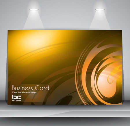 Elegant business card design template - Ideal for corporate card background or modern brochure covers. Vector
