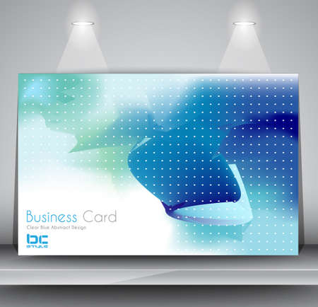 Elegant business card design template - Ideal for corporate card background or modern brochure covers. Stock Vector - 17962666