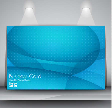 Elegant business card design template - Ideal for corporate card background or modern brochure covers. Stock Vector - 17962649
