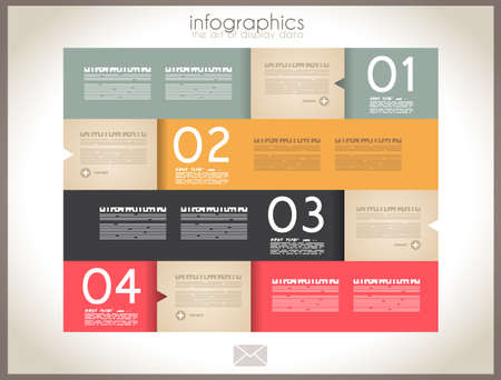 visualization: Infographic design - original paper geometric shape with shadows. Ideal for statistic data display.