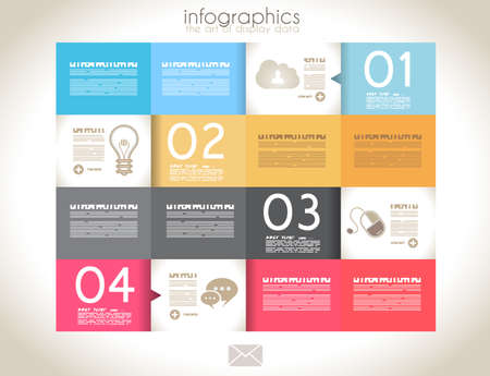 Infographic design - original paper geometric shape with shadows. Ideal for statistic data display.