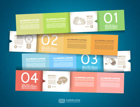 web page elements: Infographic design - original paper geometric shape with shadows. Ideal for statistic data display.
