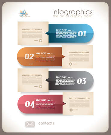 ideal: Infographic design - original paper geometric shape with shadows. Ideal for statistic data display.