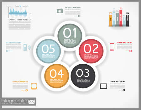 element template: Infographic design for product ranking - original paper geometric shape with shadows. Ideal for statistic data display.