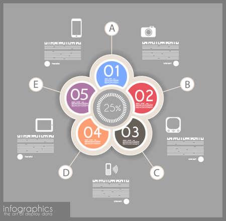 wykres kołowy: Infographic projekt rankingu produktu - oryginalny papier do ksztaÅ'tu geometrycznego z cieniami. Idealny dla statystycznej danych wyÅ›wietlacza.