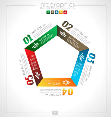 product display: Infographic design for product ranking - original paper geometric shape with shadows. Ideal for statistic data display.
