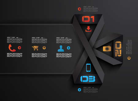 econimics: Infographic design template with paper tags. Idea to display information, ranking and statistics with orginal and modern style.