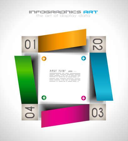 graficos de barras: Plantilla de dise�o de Infograf�a con las etiquetas de papel. Idea para mostrar informaci�n, clasificaci�n y estad�sticas con estilo original y moderno.
