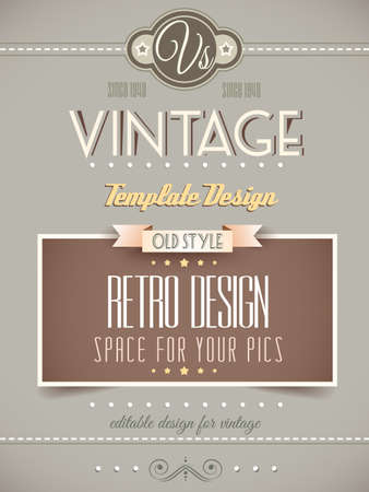 vintage document: Vintage retro page template for a variety of purposes: website home page, old style flyers, book covers or vintage posters.