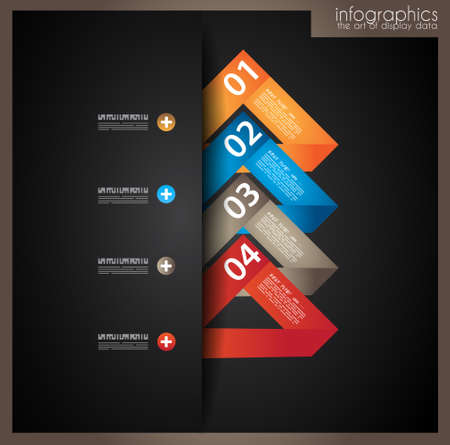 econimics: Infographic design template with paper tags  Idea to display information, ranking and statistics with orginal and modern style