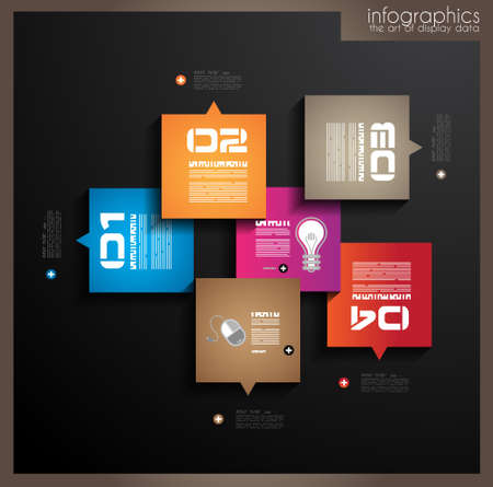 orginal: Infographic design template with paper tags  Idea to display information, ranking and statistics with orginal and modern style