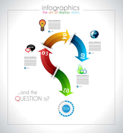 Infographic design - original paper geometric shape with shadows. Ideal for statistic data display or product ranking or general purpose classification. Vector