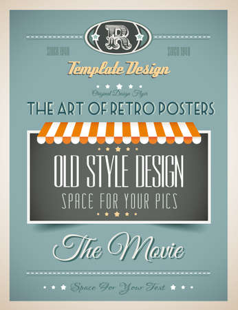 bistro: Vintage retro page template for a variety of purposes: website home page, old style flyers, book covers or vintage posters.