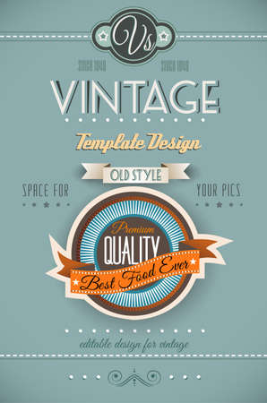 Vintage retro page template for a variety of purposes: website home page, old style flyers, book covers or vintage posters. Stock Vector - 19336031