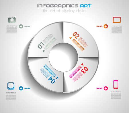 visualize: Modello di disegno di Infographic con etichette di carta. Ideale per visualizzare le informazioni, classifica e statistiche con stile originale e moderno.