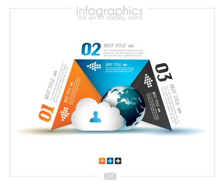 Infographic design template with paper tags. Ideal to display information, ranking and statistics with orginal and modern style.with orginal and modern style.