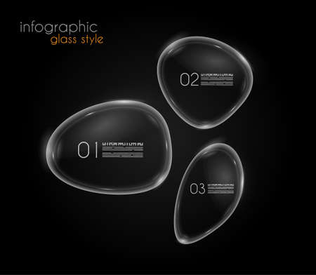 ready to cut: Unique Glass bubble infographics to display and classify datas in a modern stylish way. Ready to cut and past on every surface.