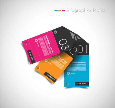 paper tags: Infographic design template with paper tags. Idea to display information, ranking and statistics with orginal and modern style.