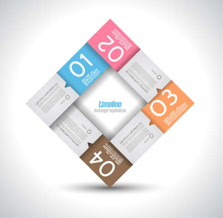 Infographic design template with paper tags. Idea to display information, ranking and statistics with orginal and modern style. Stock Vector - 19656975