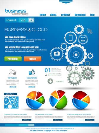 presencia: Plantilla de sitio Web con fines nube empresarial corporativa y. Ideal para los blogs de la compa��a con una alta presencia de clases.