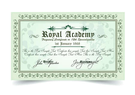 regal: Certificate for differrent with a lot of details and filigrans. Regal and elegant design. Ready to use.