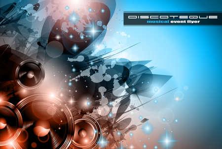 Music Club achtergrond voor disco dance internationaal evenement met veel design elementen. Ideaal voor posters, flyers en reclamepanelen.