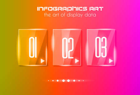 orginal: Infographic design template with glass surfaces. Ideal to display information, ranking and statistics with orginal and modern style.