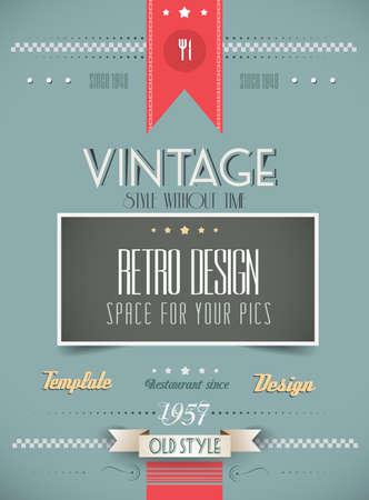 vintage: Viejo estilo de menú de la vendimia de la plantilla Fondo del día. Ideal para sus especialidades diarias o para las cubiertas del folleto.