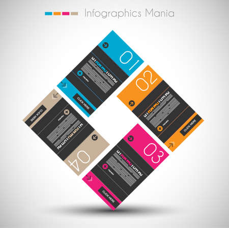 orginal: Infographic design template with paper tags. Ideal to display information, ranking and statistics with orginal and modern style.
