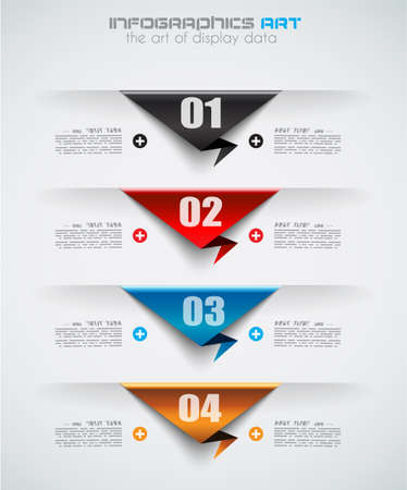 paper tags: Infographic design template with paper tags. Ideal to display information, ranking and statistics with orginal and modern style.