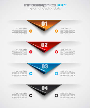 Infographic design template with paper tags. Ideal to display information, ranking and statistics with orginal and modern style. Stock Vector - 21316486