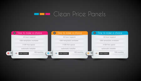Web price shop panel with space for text and buy now button. Clean design and uniform colors with delicate shadows. Ideal for ecommerce cart. Stock Vector - 21316492