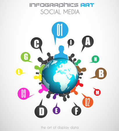 gente comunicandose: Comunicaci�n mundial y los medios de comunicaci�n el concepto de arte social. Gente comunicaci�n de todo el mundo con una gran cantidad de conexiones.