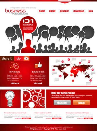 presencia: Plantilla de sitio Web con fines nube empresarial corporativa y. Ideal para los blogs de la compa??a con una alta presencia de clases.