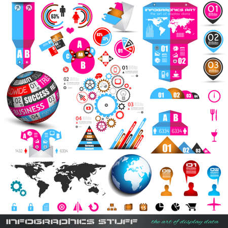 Infographics concept background to display your data in a stylish way. Clean detailaed design for stats, ranking and classifications.