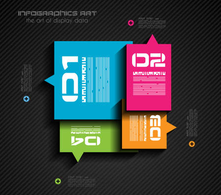 connect people: Infographic design template with paper tags. Ideal to display information, ranking and statistics with orginal and modern style.