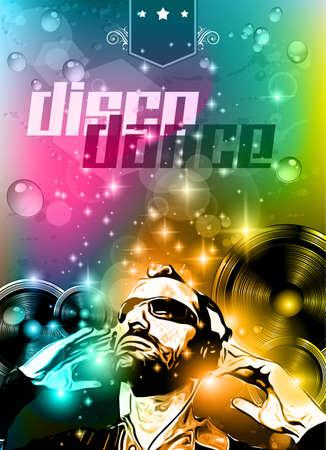 Música de fondo del Club para las discotecas de baile evento internacional con una gran cantidad de elementos de diseño. Ideal para carteles, folletos y paneles publicitarios.