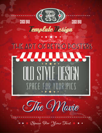 cover page: Vintage retro page template for a variety of purposes: website home page, old style flyers, book covers or vintage posters.