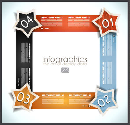 orginal: Infographic design template with paper tags. Idea to display information, ranking and statistics with orginal and modern style.